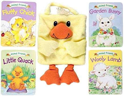 Furry Duck and 4 Animals Friends Books