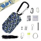 TBDLG 12 Piece First Aid Kit Outdoor, Kompakt Multi Erste Hilfe Set Wandern Tactical Tragbar...