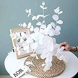 50 Cm Soie Artificielle Vert Fleur Eucalyptus Branche Maison De Mariage Table Décoration Faux Fleur De Noël Plante Feuille Argent, Blanc