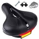 HASAGEI Bike Seat, Most Comfortable Bicycle Seat with Bike Seat Cover and Soft Padded Memory Foam for Women Men Comfort, Waterproof Replacement Bike Saddle Universal Fit Exercise Bike, Mountain Bike