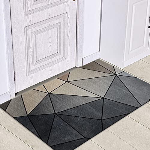 WESG Alfombrillas de impresión geométricas Modernas, Alfombrillas de Cocina Antideslizantes, alfombras de Sala de Estar y alfombras absorbentes de baño NO.5 40X60cm