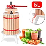 Hengda® 6 Liter Obstpresse Presse Beerenpresse Apfelpresse Obstpresse SaftMaischepresse Weinpresse