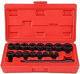 Ejoyous - Juego de 17 piezas de herramientas de centrado para coche