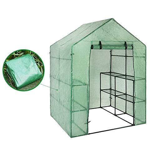 Haude Cubierta De Jardín De Plástico Portátil De Invernadero No Incluye El Estante Para 2 Capas Paseo En Invernadero Al Aire Libre