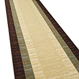 Custom Size Hallway Runner Rug - 22 in x 12 feet - Price Drops by Size - Rubber Backed Non Slip Bordered - Choose Width x Length
