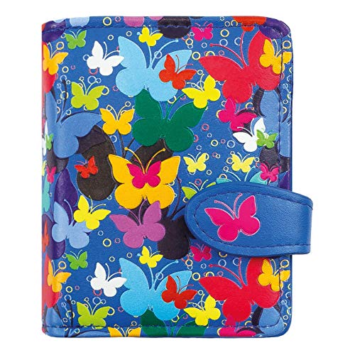 bb-Klostermann 40309 - Geldbörse Schmetterlinge blau - Geldbeutel Portemonnaie