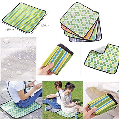 Picknick-Decke für Camping auf Gras Wasserdichte Oxford-Tuch-Set von 8 (19,7 Zoll)
