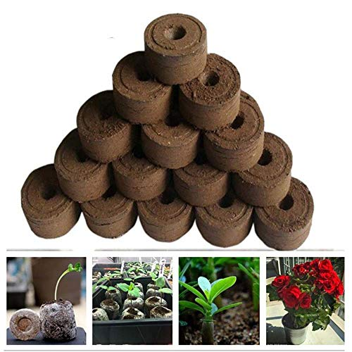 5pcs/Pack 30mm Fertilizer Bonsai Organic Flowers Peat Pellets Soil peat Nursery Soil Plant Food Seedling Soil
