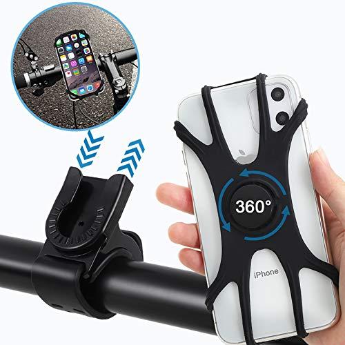 STRMZD Soporte Movil Bicicleta,Asiento de Silicona para teléfono Celular Giratorio de 360 ° Desmontable y Ajustable, aplicable a iPhone, Samsung,Android 4.5 a 7.0 Pulgadas teléfono Inteligente