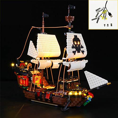 QJXF Juego De Luces USB Compatible con Lego Creator 3-En-1 del Barco...