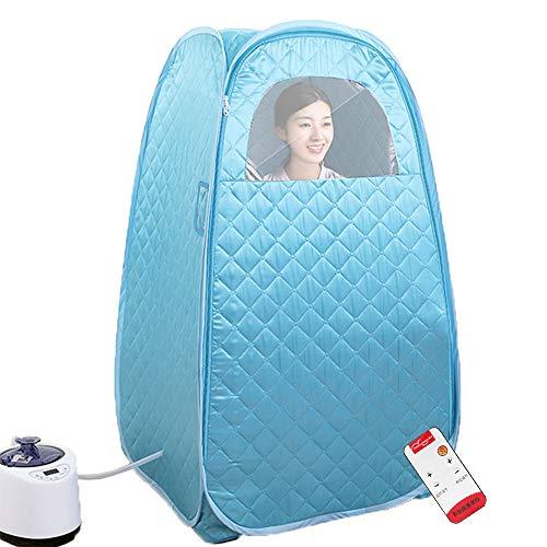 GJXJY Mobile Dampfsauna Heimsauna, Familien Dampfsauna Set 1,3 m Dampfsauna Zelt 2.6L Tragbare Dampfsauna Topf mit Fernbedienung, 15 Level Temperatur, Gewichtsverlust und Zur Entgiftung