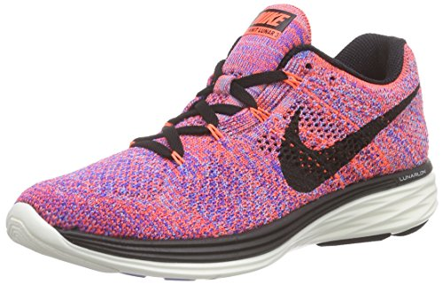 Nike Womens Flyknit Lunar 3 - Hyper Orange/Black-Racer Blue - 10.0