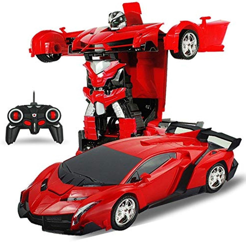 Generic RC 2 in 1 Transformer Car Driving Sports Vehicle Model Deformation Car Remote Control Robots Toys Kids Toys Coche De Juguete 3