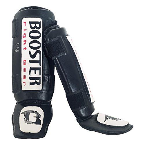 Booster Schienbeinschutz, Thai Striker, weiß, Schienbeinschoner Shin Guards, MMA Größe XL
