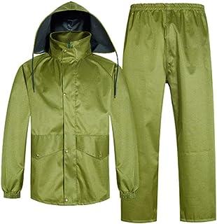 Qivor Waterproof clothing Adult One-piece Raincoat Suit, Split Outdoor Hiking Raincoat, Waterproof And Wear-resistant Ponc...