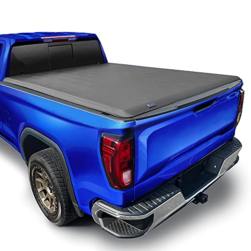 """Tyger Auto T1 Soft Roll Up Truck Bed Tonneau Cover for 2019-2020 Chevy Silverado/GMC Sierra 1500 New Body Style Fleetside 5'8"""" Bed TG-BC1C9053"""