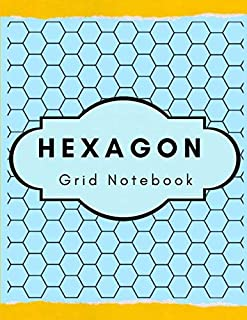 Hexagon Grid Notebook: Small Hexagon Graph Paper Carbon Paper Chem Lab Book, Organic Chemistry Laboratory Notebook, High S...