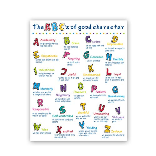 "HPNIUB Alphabet Art Print, ABC Canvas Poster,Set of 1(16""X20""), Inspirational Quotes Wall Art,Motivational Educational for Kids Bedroom Nursery Classroom, No Frame"