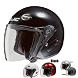 HJC CL-33 Open-Face Motorcycle Helmet (Matte Black, Medium)