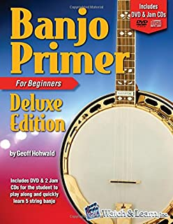Banjo Primer Book for Beginners Deluxe Edition با دی وی دی و 2 سی دی جام
