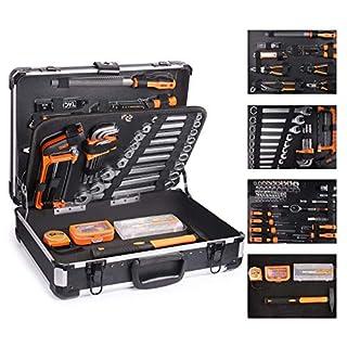 scheda tacklife - cassetta attrezzi,136pcs,valigia in alluminio,valigia degli attrezzi,martello,set di cacciaviti,pinze,set di maniche set di chiavi-hhk4b