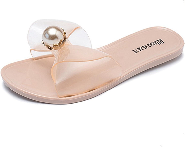 GIY Women's Open Toe Platform Flat Sandals Comfort Slip-On Anti-Slip Summer Beach Slide Sandals