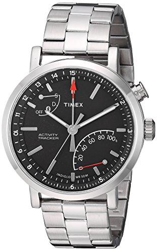 Timex Unisex TW2P99000 Metropolitan+ Silver-Tone Stainless Steel Bracelet Smartwatch