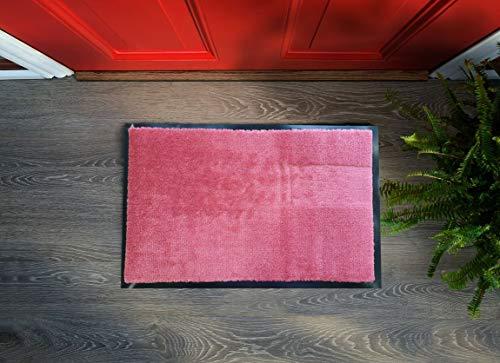 Floorcover Felpudo de alta calidad prémium con alta densidad y muchos colores (rosa, 40 x 60 cm)