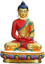 Buddha Statue of Amitabha, Statue of Pure Copper Ornament, Home Interior Offering, Height 10cm,Craft Ornament,Buddha Decor...