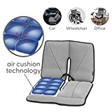 Dr. air Seat Cushion, Non-Slip Orthopedic Lumbar Support Cushion, Back, Sciatica, Coccyx and Tailbone Pain, Wheelchair, Office, Car, Home (Grey, Lumbar)