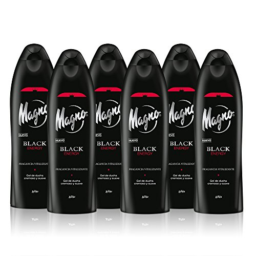 Magno - Gel de ducha Black Energy - 550ml (pack de 6) Total: 3300ml