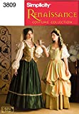 Simplicity Women Renaissance Cosplay and Costume Sewing Patterns, Sizes 16-20