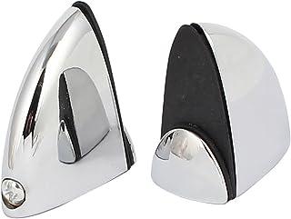sourcingmap® Abrazaderas de Clip ajustables para Soporte de estantería para cristal de 4mm-10mm de grosor tipo F 2pcs