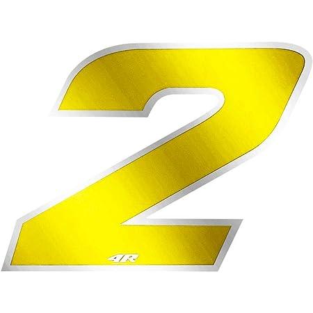 4r Quattroerre It 13082 Startnummer 2 Aufkleber Für Motorräder Gelb 65 X 85 Mm Auto