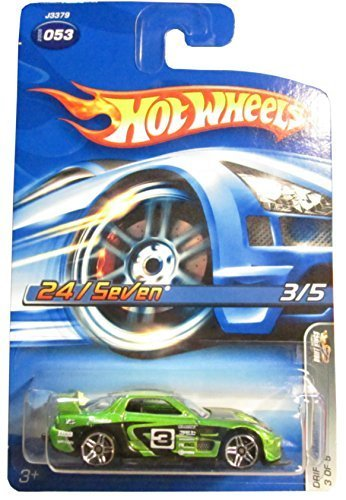 Hot Wheels 2006 Drift Kings 24/Seven Green #053 by Mattel