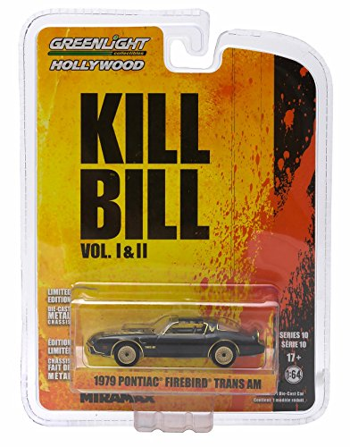 1979 PONTIAC FIREBIRD TRANS AM from the classic film KILL BILL Greenlight Collectibles 1:64 Scale GL Hollywood Series 10 Die Cast Vehicle