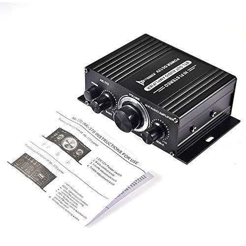 Carrfan 400W DC12V BT Amplificador HiFi Coche Stereo Music Receiver FM MP3...
