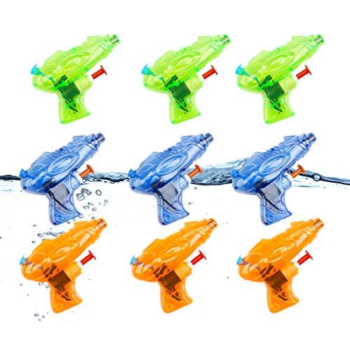 O-Kinee Pistole ad Acqua,9 PCS Mini Pistola ad Acqua,Squirt Pistola di Plastica,Pistola ad Acqua all'aperto Mini Bambini Giocattolo Trasparente Piccola Pistola a Spruzzo (9 PCS)