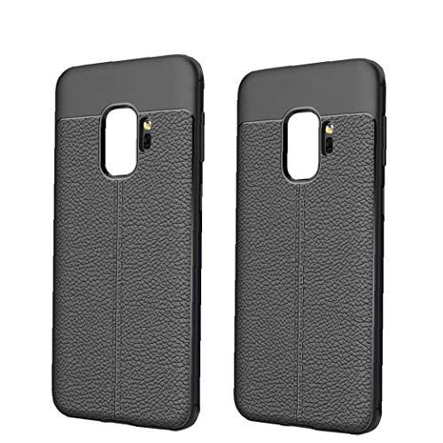 xiaocheng Casos De Teléfono Móvil Piel Caso Negro Teléfono De La Cubierta Suave Estupendo Móvil Samsung Galaxy S9 Accesorios Electrónicos Portátiles