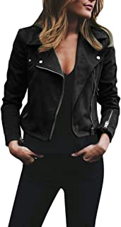 FRAUIT Damen Jacke,Frauen Mantel,Frauen Retro Rivet Zipper Westen Up Bomber Casual Outwear Sport Freizeit Reisen Tanzparty Festival Party Outwear Kleidung Coat,Tops,Bluse