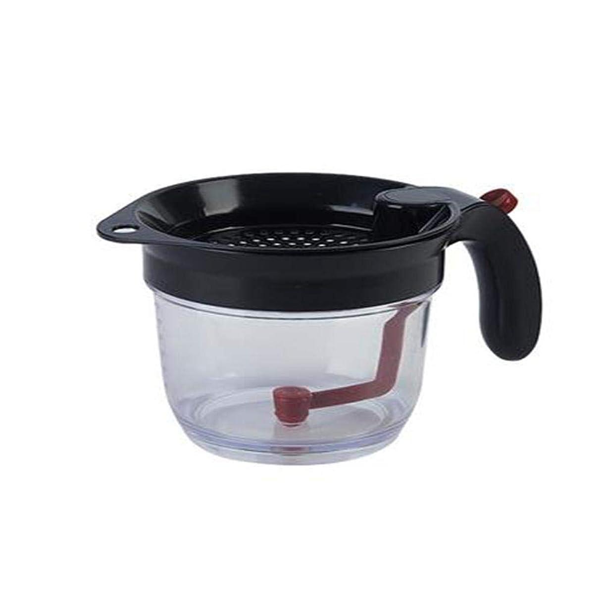倒錯上がるずんぐりしたオイルフィルター オイルポット キッチン用品 スープセパレーター カップ脂肪セパレーター オイルセパレーター 大容量 お手入れ簡単 キッチンアクセサリー