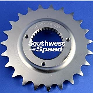 NEW SOUTHWEST SPEED 19 TOOTH FRONT COUNTERSHAFT HARLEY MOTORCYCLE SPROCKET FOR 530 CHAINS, 33 SPLINE, 1991-1992 HARLEY DAVIDSON SPORTSTER 5 SPEED, 1994-2007 BUELL BIKES, REPLACES OEM 3709-89