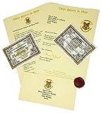 Harry Potter Carta de Aceptación Personalizada Estilo Hogwarts