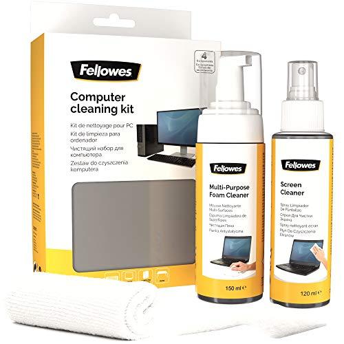 Fellowes 9977907 Limpiador de aire comprimido para limpieza de equipos kit de limpieza para computadora - Kit de limpieza para...