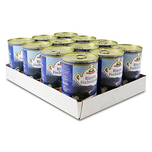 12er Sparpack Rügen-Krone Rügener Fischsoljanka (12 x 400 ml) Dosenfisch, Fischbüchse, Soljanka in der Dose