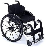 JYHQ Silla de ruedas ergonómica para deportes y ocio, aleación de aluminio, color para silla de ruedas, plegable, manual, gris, azul, color: amarillo (color: blanco)