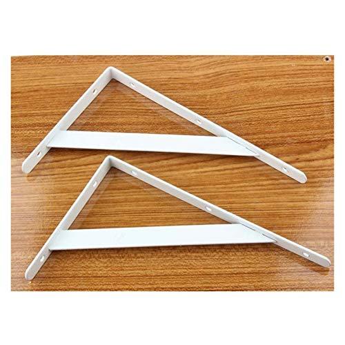 FEANG 2 protectores de esquina de metal en forma de L para esquinas gruesas, ángulo recto, soporte de 15,2 a 50,8 cm, para muebles de protección de esquina (color: blanco 150 mm)