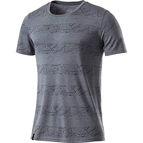McKINLEY Herren Robson T-Shirt, AOP/Navy, XL