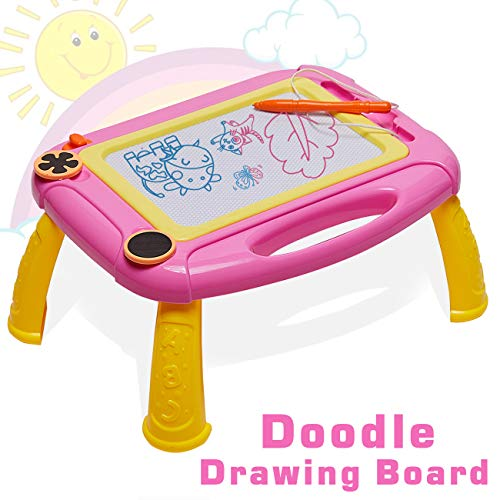 HahaGift Toddler Toys Doodle Drawing Board for Kids Toys Age 1 2 Year Old Girl Toys, Magnetic Writing Sketching Pad Kids Gifts Age 2 3 1 Year Old Boy Gifts for 2 1 Year Old Boys Birthday Gift