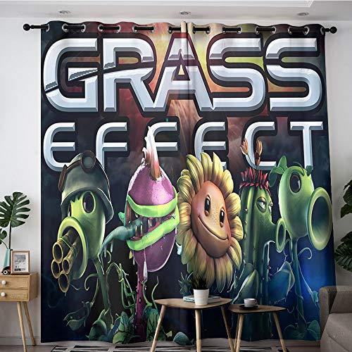 Sdustin Plantas vs. Zombies Grass - Cortinas para sala de es